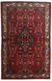 Asadabad Matto 108X169 Itämainen Käsinsolmittu Tummanpunainen/Tummanruskea (Villa, Persia/Iran)