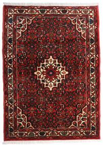 Hosseinabad Matto 100X140 Itämainen Käsinsolmittu Tummanpunainen (Villa, Persia/Iran)