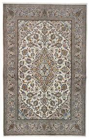 Keshan Matto 137X213 Itämainen Käsinsolmittu Vaaleanharmaa/Musta (Villa, Persia/Iran)