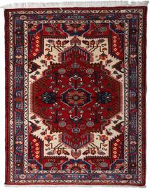 Hamadan Matto 116X148 Itämainen Käsinsolmittu Tummanpunainen/Vaaleanharmaa (Villa, Persia/Iran)