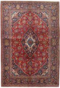 Keshan Matto 147X215 Itämainen Käsinsolmittu Tummanpunainen/Tummanvioletti (Villa, Persia/Iran)