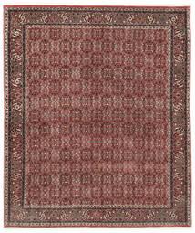 Bidjar Silkillä Matto 184X217 Itämainen Käsinsolmittu Tummanpunainen/Tummanruskea (Villa/Silkki, Persia/Iran)