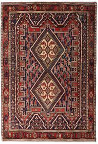 Afshar Shahre Babak Matto 125X182 Itämainen Käsinsolmittu Tummanpunainen/Tummanruskea (Villa, Persia/Iran)