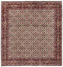 Bidjar Matto 200X203 Itämainen Käsinsolmittu Neliö Tummanruskea/Tummanpunainen (Villa, Persia/Iran)