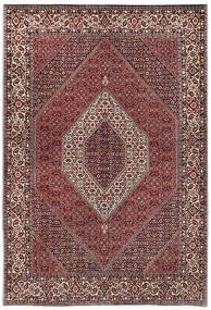 Bidjar Silkillä Matto 170X244 Itämainen Käsinsolmittu Tummanruskea/Tummanpunainen (Villa/Silkki, Persia/Iran)
