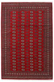 Pakistan Bokhara 2Ply Matto 199X295 Itämainen Käsinsolmittu Tummanpunainen/Punainen (Villa, Pakistan)