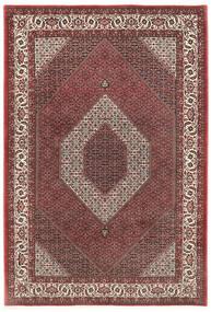 Bidjar Silkillä Matto 200X300 Itämainen Käsinsolmittu Tummanpunainen/Tummanruskea (Villa/Silkki, Persia/Iran)