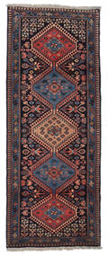Yalameh Matto 60X162 Itämainen Käsinsolmittu Käytävämatto Tummanruskea/Tummanpunainen (Villa, Persia/Iran)