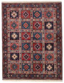Yalameh Matto 151X194 Itämainen Käsinsolmittu Tummanpunainen/Tummanvioletti (Villa, Persia/Iran)