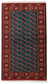 Turkaman Matto 129X219 Itämainen Käsinsolmittu Tummanpunainen/Musta (Villa, Persia/Iran)