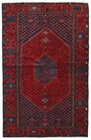 Hamadan Matto 131X202 Itämainen Käsinsolmittu Tummanpunainen/Tummanruskea (Villa, Persia/Iran)