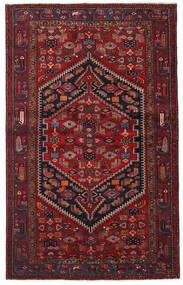 Hamadan Matto 132X213 Itämainen Käsinsolmittu Tummanpunainen (Villa, Persia/Iran)