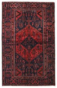 Hamadan Matto 129X202 Itämainen Käsinsolmittu Tummanruskea/Tummanpunainen (Villa, Persia/Iran)