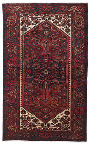 Hamadan Matto 129X207 Itämainen Käsinsolmittu Tummanpunainen (Villa, Persia/Iran)