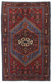 Hamadan Matto 126X200 Itämainen Käsinsolmittu Tummanpunainen/Musta (Villa, Persia/Iran)