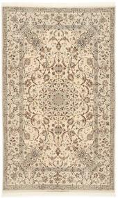 Isfahan Silkkiloimi Matto 128X206 Itämainen Käsinsolmittu Beige/Vaaleanharmaa (Villa/Silkki, Persia/Iran)