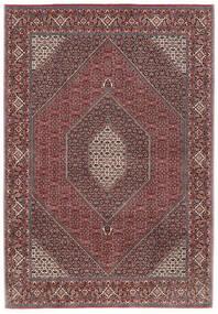 Bidjar Silkillä Matto 206X296 Itämainen Käsinsolmittu Tummanpunainen/Tummanruskea (Villa/Silkki, Persia/Iran)