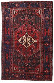 Hamadan Matto 134X208 Itämainen Käsinsolmittu Tummanpunainen/Musta (Villa, Persia/Iran)