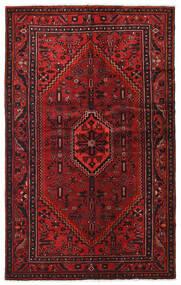 Hamadan Matto 128X206 Itämainen Käsinsolmittu Tummanpunainen/Tummanruskea (Villa, Persia/Iran)