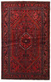 Hamadan Matto 127X209 Itämainen Käsinsolmittu Tummanpunainen/Tummanruskea (Villa, Persia/Iran)