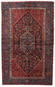 Hamadan Matto 140X222 Itämainen Käsinsolmittu Tummanpunainen/Musta (Villa, Persia/Iran)