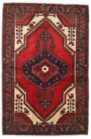 Hamadan Matto 128X193 Itämainen Käsinsolmittu Tummanpunainen/Musta (Villa, Persia/Iran)