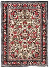 Bidjar Matto 115X155 Itämainen Käsinsolmittu Tummanruskea/Tummanpunainen (Villa, Persia/Iran)
