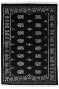 Pakistan Bokhara 3Ply Matto 135X196 Itämainen Käsinsolmittu Musta/Tummanharmaa (Villa, Pakistan)