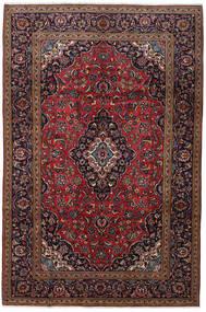 Keshan Matto 200X301 Itämainen Käsinsolmittu Tummanpunainen/Tummanruskea (Villa, Persia/Iran)