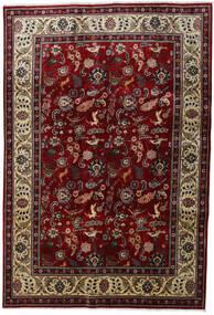 Tabriz Matto 200X290 Itämainen Käsinsolmittu Tummanpunainen/Vaaleanruskea (Villa, Persia/Iran)