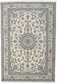 Nain Matto 195X284 Itämainen Käsinsolmittu Vaaleanharmaa/Tummanharmaa (Villa, Persia/Iran)