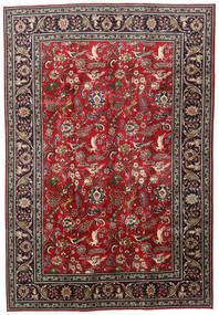 Tabriz Matto 203X295 Itämainen Käsinsolmittu Tummanpunainen/Musta (Villa, Persia/Iran)