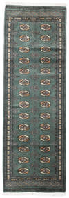 Pakistan Bokhara 3Ply Matto 82X244 Itämainen Käsinsolmittu Käytävämatto Sininen/Vihreä (Villa, Pakistan)