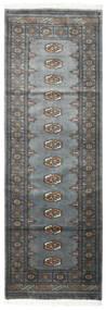 Pakistan Bokhara 3Ply Matto 78X234 Itämainen Käsinsolmittu Käytävämatto Tummanharmaa/Sininen (Villa, Pakistan)