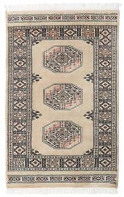Pakistan Bokhara 3Ply Matto 79X122 Itämainen Käsinsolmittu Vaaleanharmaa/Tummanharmaa (Villa, Pakistan)