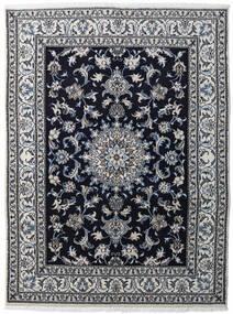 Nain Matto 147X198 Itämainen Käsinsolmittu Vaaleanharmaa/Musta/Tummanharmaa (Villa, Persia/Iran)