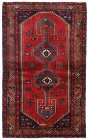 Hamadan Matto 127X205 Itämainen Käsinsolmittu Tummanpunainen/Tummanruskea (Villa, Persia/Iran)