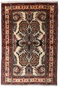 Hamadan Matto 102X152 Itämainen Käsinsolmittu Tummanruskea (Villa, Persia/Iran)