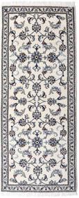 Nain Matto 77X190 Itämainen Käsinsolmittu Käytävämatto Vaaleanharmaa/Beige (Villa, Persia/Iran)