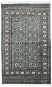 Pakistan Bokhara 3Ply Matto 92X151 Itämainen Käsinsolmittu Tummanharmaa/Tummanvihreä (Villa, Pakistan)