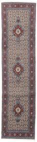 Moud Matto 76X293 Itämainen Käsinsolmittu Käytävämatto Vaaleanharmaa/Tummanruskea (Villa/Silkki, Persia/Iran)