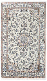 Nain Matto 120X204 Itämainen Käsinsolmittu Vaaleanharmaa/Tummanbeige (Villa, Persia/Iran)