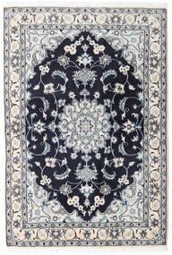 Nain Matto 131X194 Itämainen Käsinsolmittu Vaaleanharmaa/Tummanvioletti (Villa, Persia/Iran)
