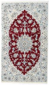 Nain Matto 115X200 Itämainen Käsinsolmittu Vaaleanharmaa/Tummanpunainen (Villa, Persia/Iran)