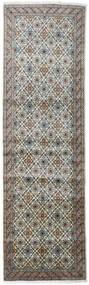 Keshan Matto 98X328 Itämainen Käsinsolmittu Käytävämatto Tummanharmaa/Vaaleanharmaa (Villa, Persia/Iran)
