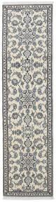 Nain Matto 77X288 Itämainen Käsinsolmittu Käytävämatto Tummanharmaa/Vaaleanharmaa/Beige (Villa, Persia/Iran)