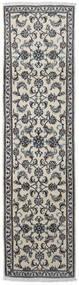 Nain Matto 76X290 Itämainen Käsinsolmittu Käytävämatto Vaaleanharmaa/Tummanharmaa (Villa, Persia/Iran)