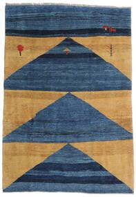 Gabbeh Rustic Matto 193X282 Moderni Käsinsolmittu Tummansininen/Sininen/Vaaleanruskea (Villa, Persia/Iran)