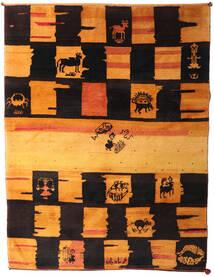 Gabbeh Rustic Matto 217X287 Moderni Käsinsolmittu Tummanruskea/Oranssi (Villa, Persia/Iran)