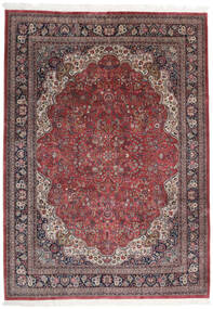 Keshan Indo Matto 249X359 Itämainen Käsinsolmittu Tummanpunainen/Tummanruskea (Villa, Intia)